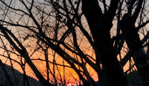 夕日の見える観音ヶ池